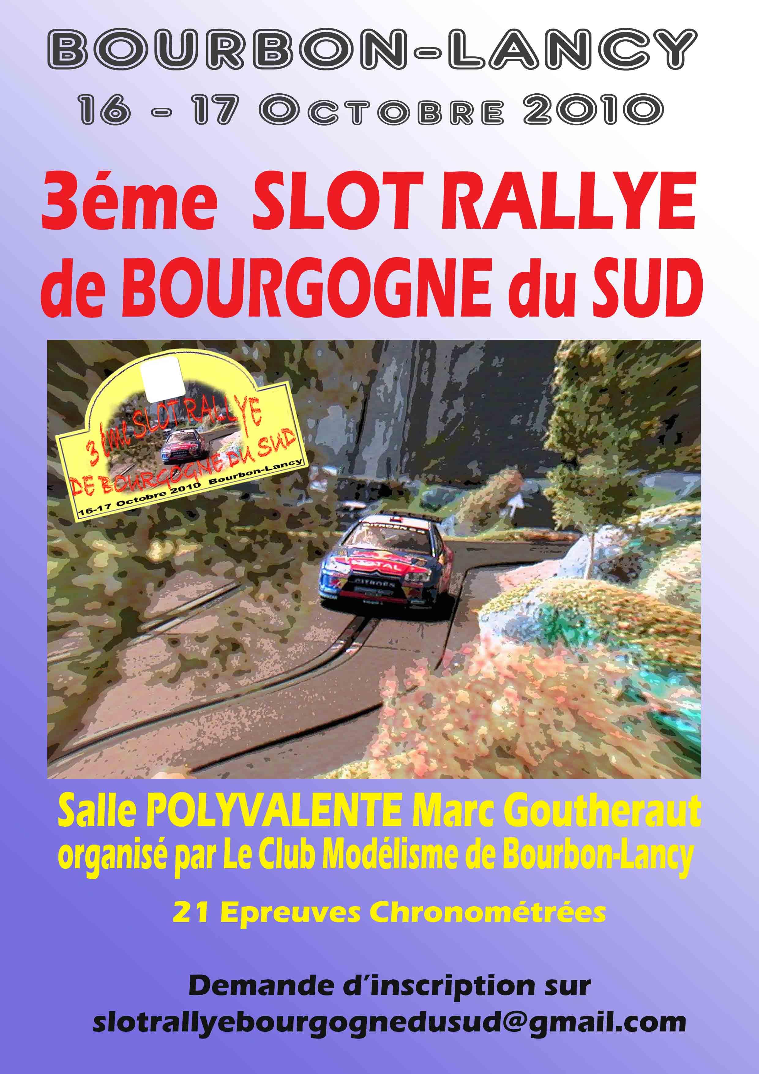 Slot Rallye à Bourbon-Lancy