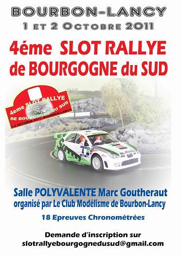 4eme Slot Rallye de Bourgogne du Sud