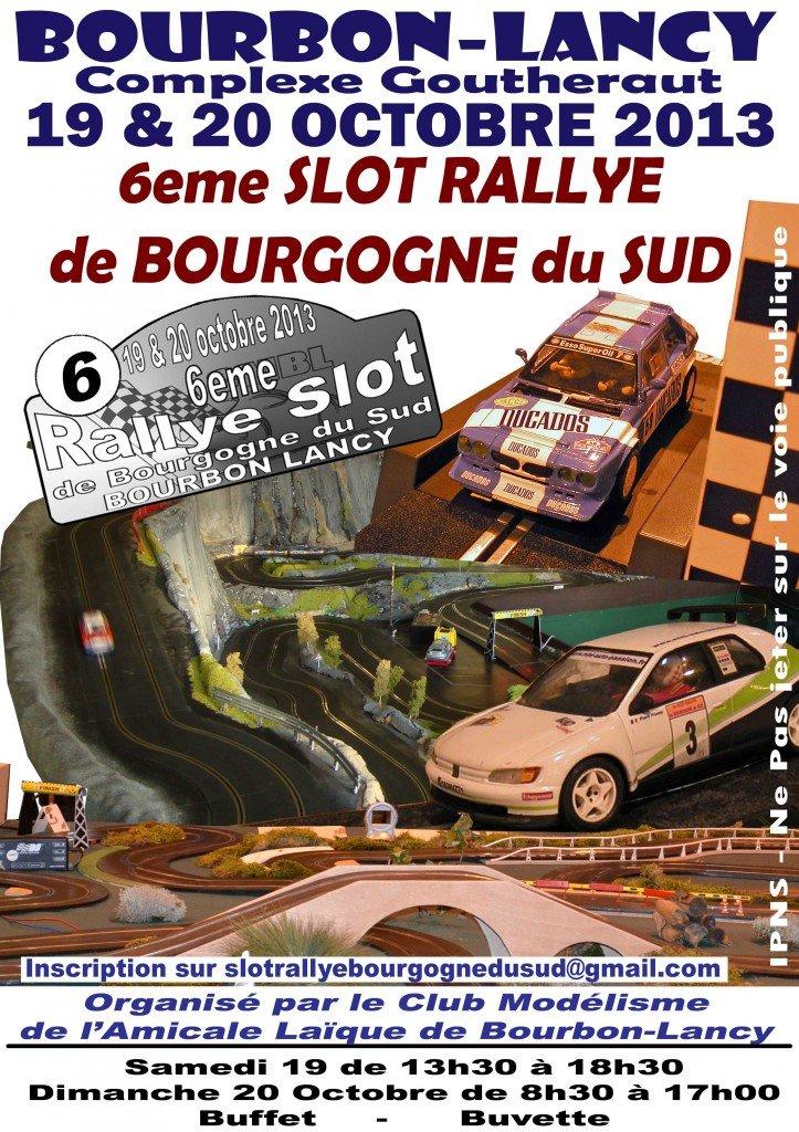 6eme SLOT RALLYE de BOURGOGNE du SUD dans Rallye Slot de Bourgogne du Sud affiche2a