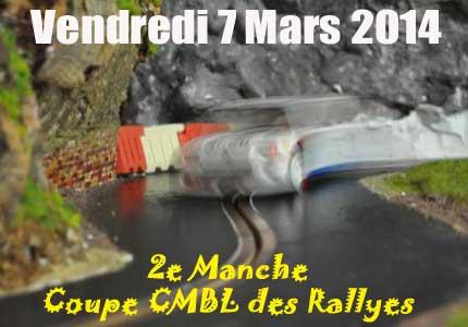 2eme manche Coupe CMBL des Rallyes 2014