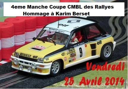 4eme manche de la Coupe CMBL des Rallyes - Bourbon-Lancy Hommage Karim Berset